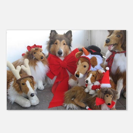 Christmas Collies Postcards (Package of 8)