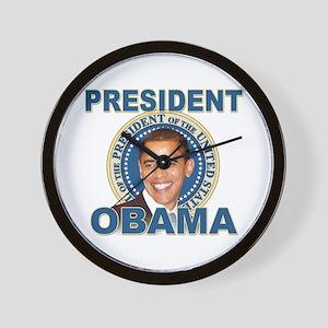 President Barck Obama t-shirt Wall Clock