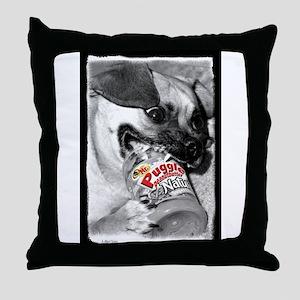 Puggle Peanut Butter Throw Pillow