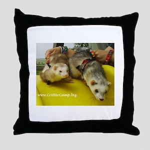 Anastasia & Ferri on the slid Throw Pillow