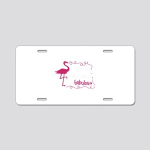 Flamingo Shirt Stand Tall a Aluminum License Plate