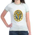 USS HARRY E. YARNELL Jr. Ringer T-Shirt