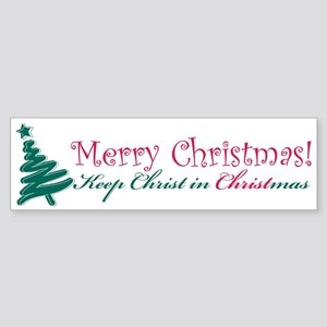 Merry Christmas tree Sticker (Bumper)