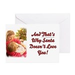 Santa Doesn't Love You Greeting Cards (Pk of 20)