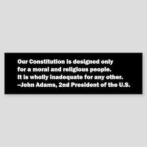 John Adams Quote Sticker (Bumper)