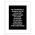 John Adams Quote Small Poster
