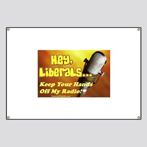 """Hands Off My Radio"" Banner"