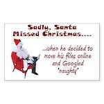 Santa Missed Christmas Rectangle Sticker 10 pk)