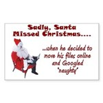 Santa Missed Christmas Rectangle Sticker 50 pk)