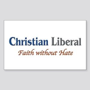 Christian Liberal Rectangle Sticker