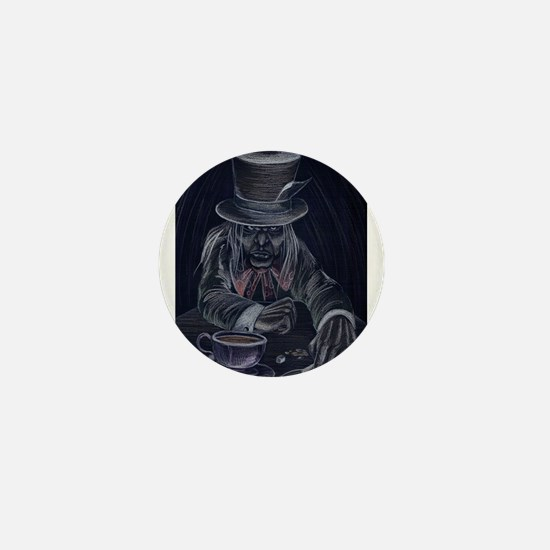 Mad Hatter in Black Mini Button