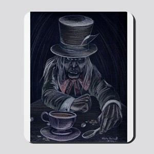 Mad Hatter in Black Mousepad