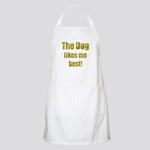 The Dog Likes Me Best' BBQ Apron