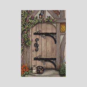 English Tudor Door Rectangle Magnet