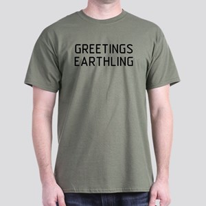 Greetings Earthling Dark T-Shirt
