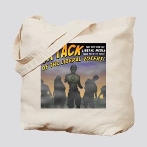 Attack of the Liberal Voters Tote Bag