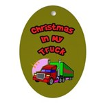 Christmas In My Truck Oval Ornament