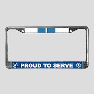 Korean Service License Plate Frame