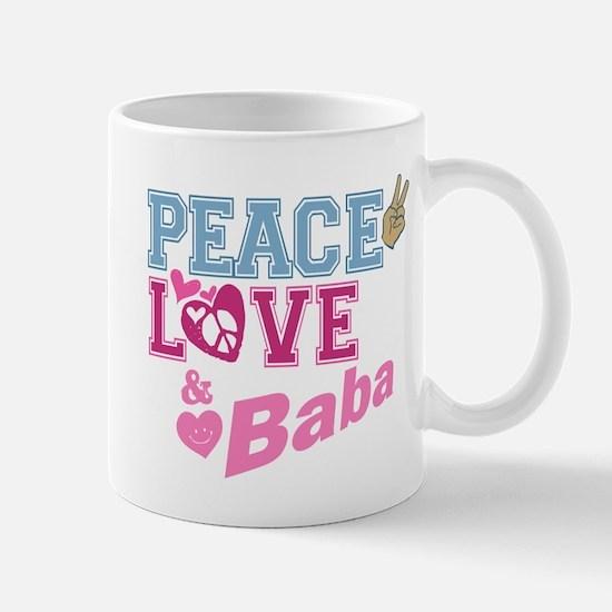 Peace Love and Baba Mug