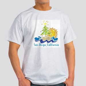 San Diego Holiday Ash Grey T-Shirt