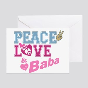 Peace Love and Baba Greeting Card