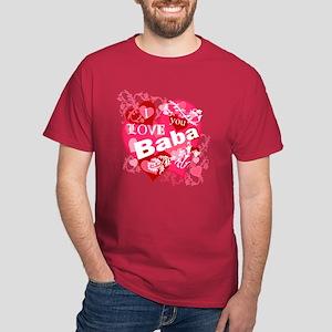 I Love You Baba Dark T-Shirt