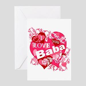 I Love You Baba Greeting Card