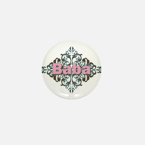 Grandma Baba Name Crest Mini Button