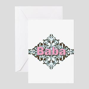 Grandma Baba Name Crest Greeting Card