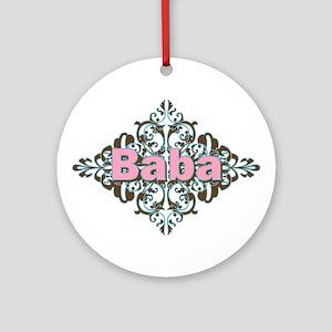 Grandma Baba Name Crest Ornament (Round)