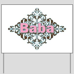 Grandma Baba Name Crest Yard Sign