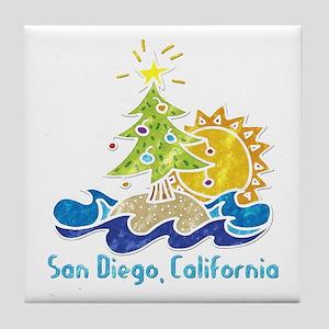 San Diego Holiday Tile Coaster