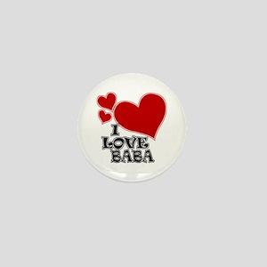 I Love Baba Mini Button