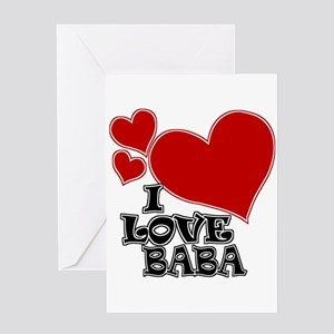 I Love Baba Greeting Card