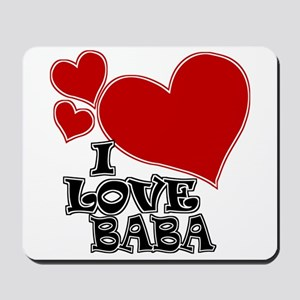 I Love Baba Mousepad