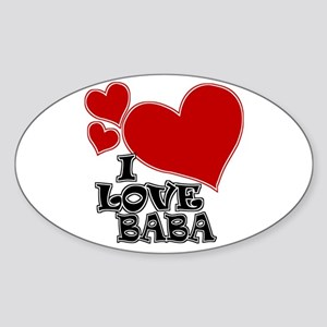 I Love Baba Oval Sticker