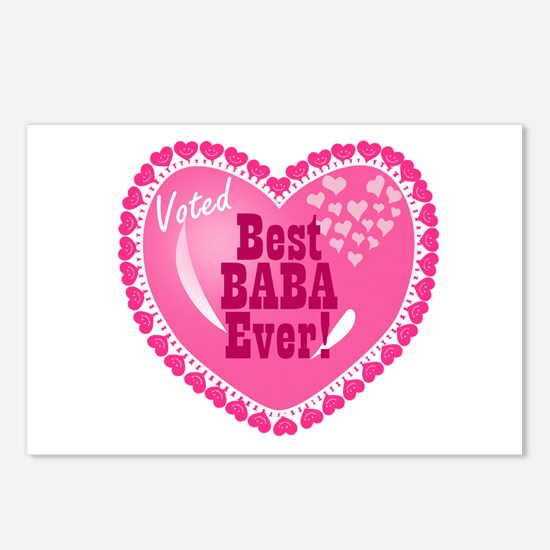 Best Baba Ever Postcards (Package of 8)