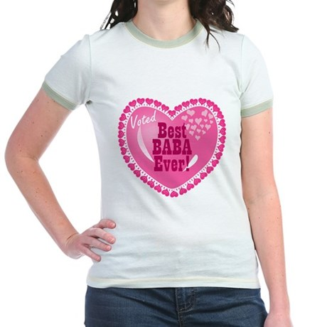 Best Baba Ever Jr. Ringer T-Shirt