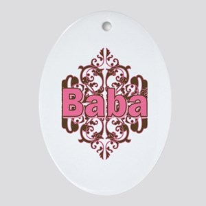 Personalized Baba Oval Ornament