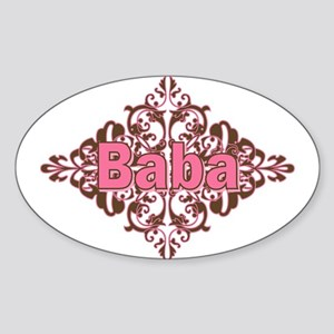 Personalized Baba Oval Sticker