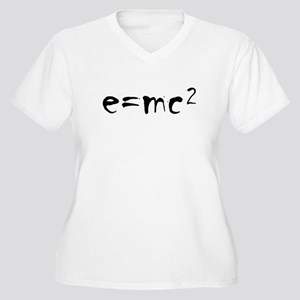 E=MC2 Women's Plus Size V-Neck T-Shirt