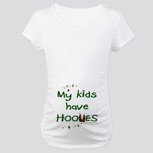 My kids have hooves Maternity T-Shirt