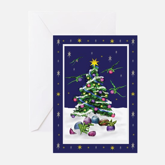 Baby Green Dragons Christmas Cards (Pk of 10)