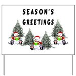 Christmas Greetings Yard Sign