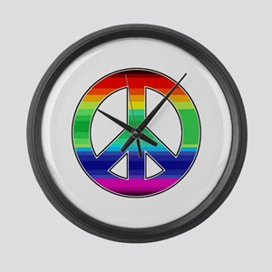 Peace Sign 2 Large Wall Clock
