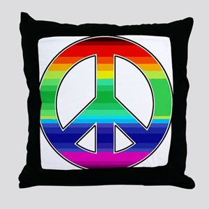 Peace Sign 2 Throw Pillow