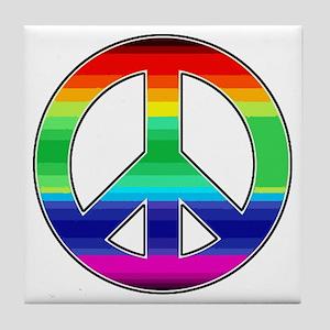 Peace Sign 2 Tile Coaster