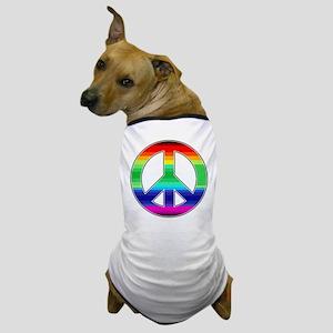 Peace Sign 2 Dog T-Shirt