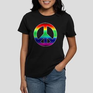 Peace Sign 2 Women's Dark T-Shirt