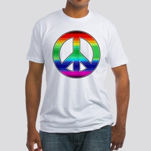 Peace Sign 2 Fitted T-Shirt